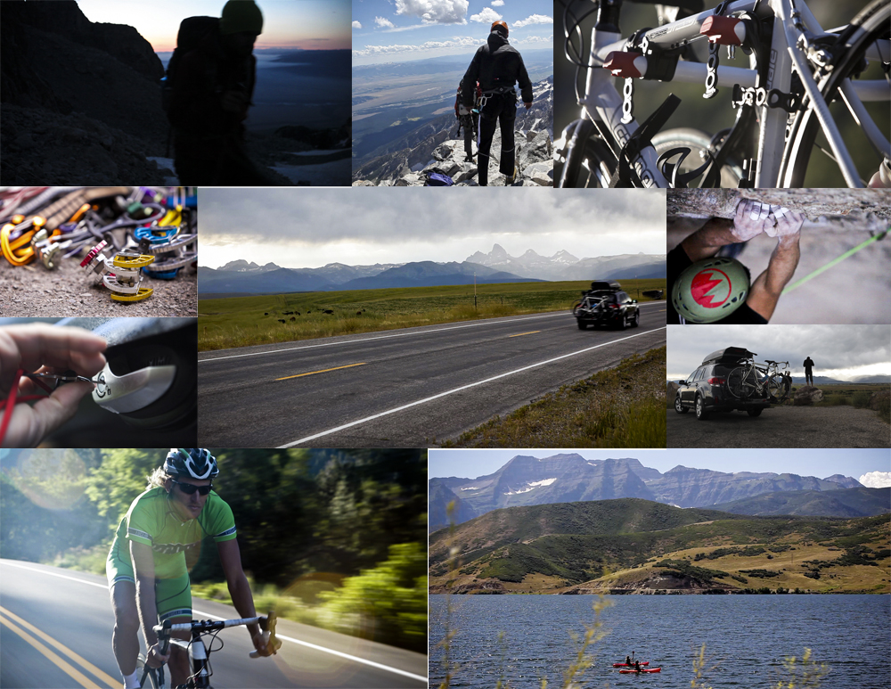 Montage of key screen shots from the Utah/Wyoming Production